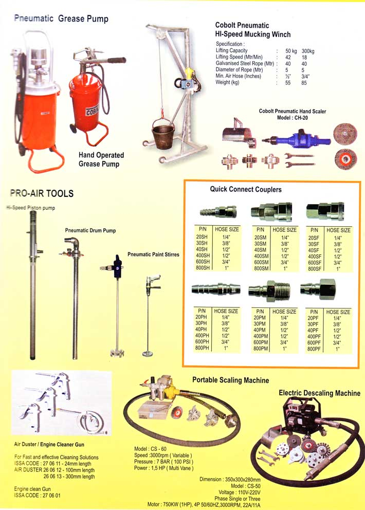 Cobolt - Pneumatic Tools and Grease Pump