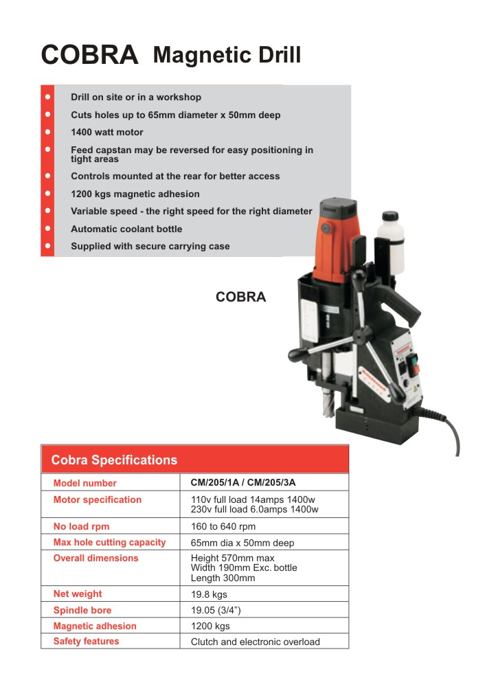 Rotabroach - Cobra Magnetic Drill